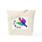 Rainbow Dove Peace Tote Bag