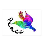 Rainbow Dove Peace Postcards (Package of 8)