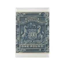 Rhodesia arms One Pound Rectangle Magnet