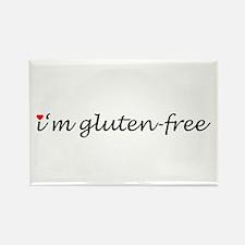 i'm gluten-free w/heart Rectangle Magnet