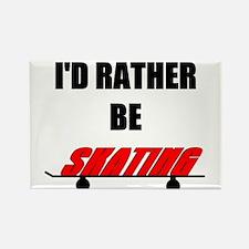 I'd Rather Be Skating Rectangle Magnet