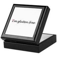 i'm gluten-free w/heart Keepsake Box