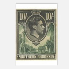 Northern Rhodesia KGVI 10s Postcards (Package of 8