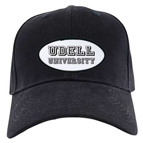 Udell Last Name University Black Cap