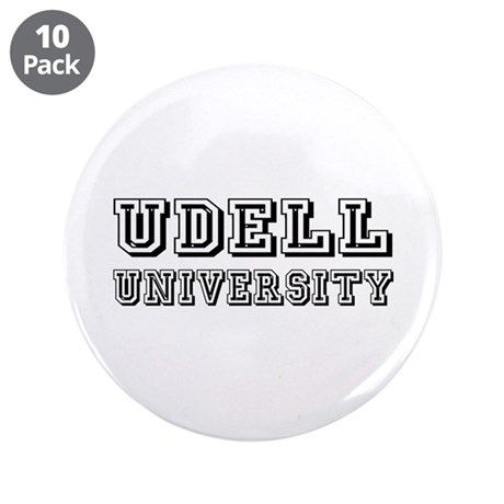 """Udell Last Name University 3.5"""" Button (10 pack)"""
