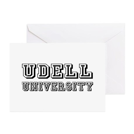 Udell Last Name University Greeting Cards (Pk of 1