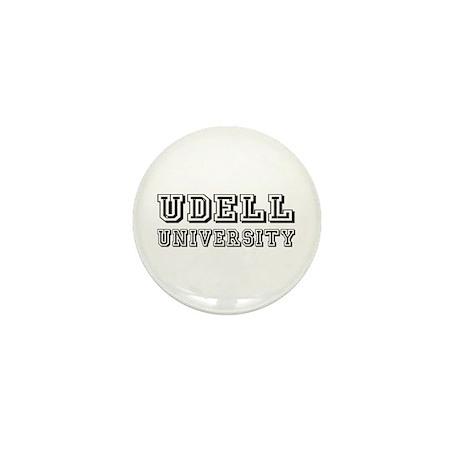 Udell Last Name University Mini Button