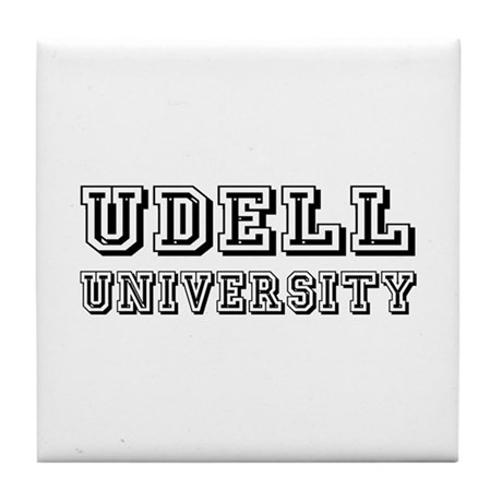 Udell Last Name University Tile Coaster