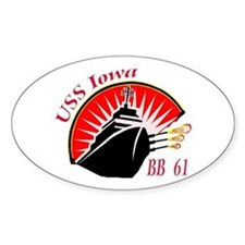USS Iowa BB-61 Oval Decal