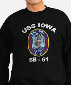 USS Iowa BB-61 Sweatshirt (dark)