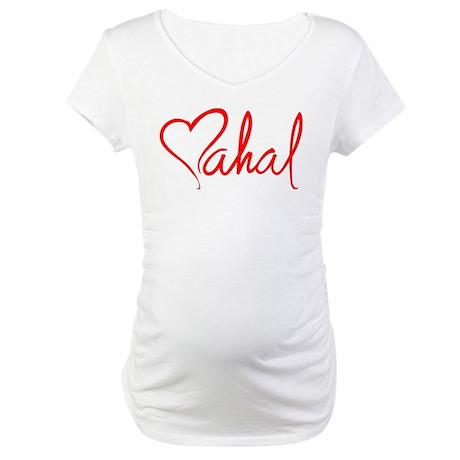 mahal/heart Maternity T-Shirt