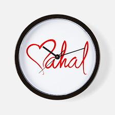 mahal/heart Wall Clock