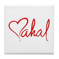 mahal/heart Tile Coaster