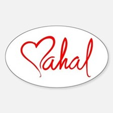mahal/heart Oval Decal