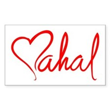 mahal/heart Rectangle Decal