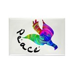 Rainbow Dove Peace Rectangle Magnet (10 pack)