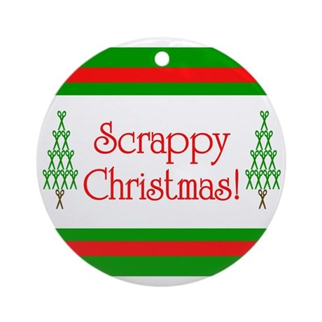 Scrappy Christmas Ornament (Round)