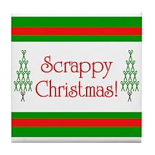 Scrappy Christmas Tile Coaster