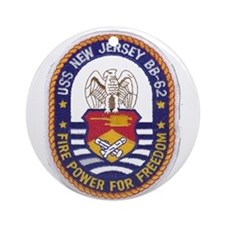 USS New Jersey BB-62 Ornament (Round)