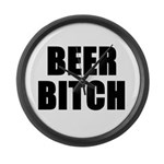 Beer Bitch Large Wall Clock