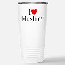 """""""I Love (Heart) Muslims"""" Travel Mug"""