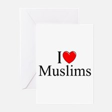 """I Love (Heart) Muslims"" Greeting Cards (Pk of 10)"