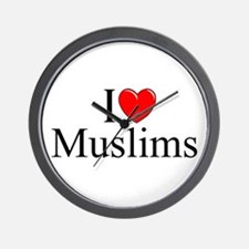 """I Love (Heart) Muslims"" Wall Clock"