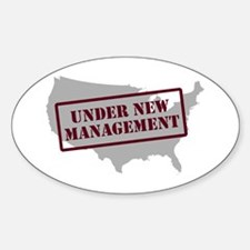 """""""Under New Management"""" Oval Decal"""