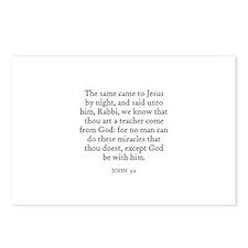 JOHN  3:2 Postcards (Package of 8)