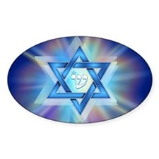 Radiant Magen David Oval Decal