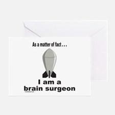 BRAIN SURGEON/ROCKET SCIENCE Greeting Card