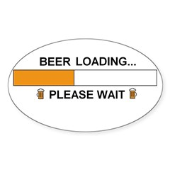 BEER LOADING... Oval Decal
