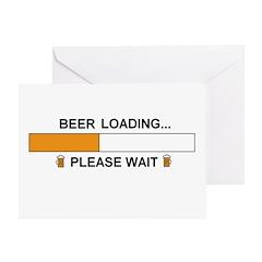 BEER LOADING... Greeting Card