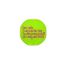 More! Mini Button (10 pack)