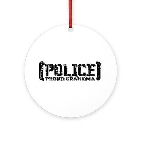 Police Proud Grandma Ornament (Round)