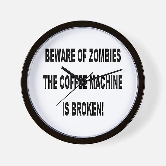 Beware Of Zombies Wall Clock