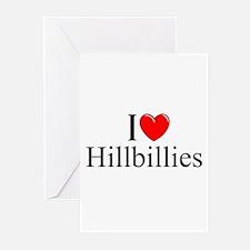 """I Love (Heart) Hillbillies"" Greeting Cards (Pk of"