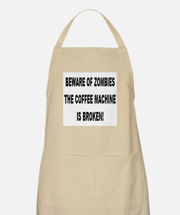 Beware Of Zombies BBQ Apron