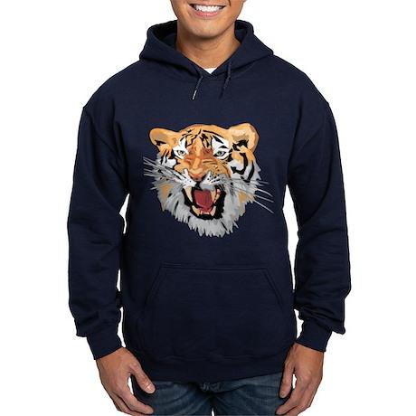 Facial shot of Tiger Hoodie (dark)