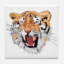 Facial shot of Tiger Tile Coaster