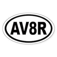 AV8R Euro Oval Bumper Stickers