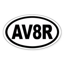 AV8R Euro Oval Stickers