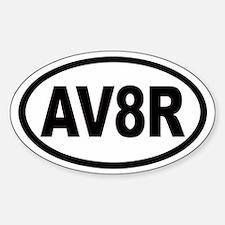 AV8R Euro Oval Stickers