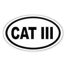 CAT III Euro Oval Decal