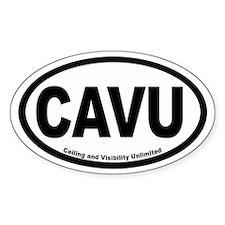 CAVU Euro Oval Decal