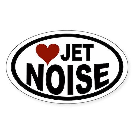 Jet Noise Euro Oval Sticker
