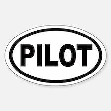 Pilot Euro Oval Bumper Stickers