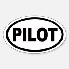 Pilot Euro Oval Stickers