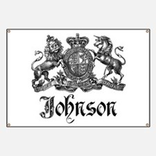 Johnson Vintage Family Crest Banner