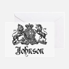 Johnson Vintage Family Crest Greeting Card